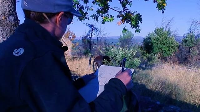 #Drawing in the local hills this #December in Provence #wintersun