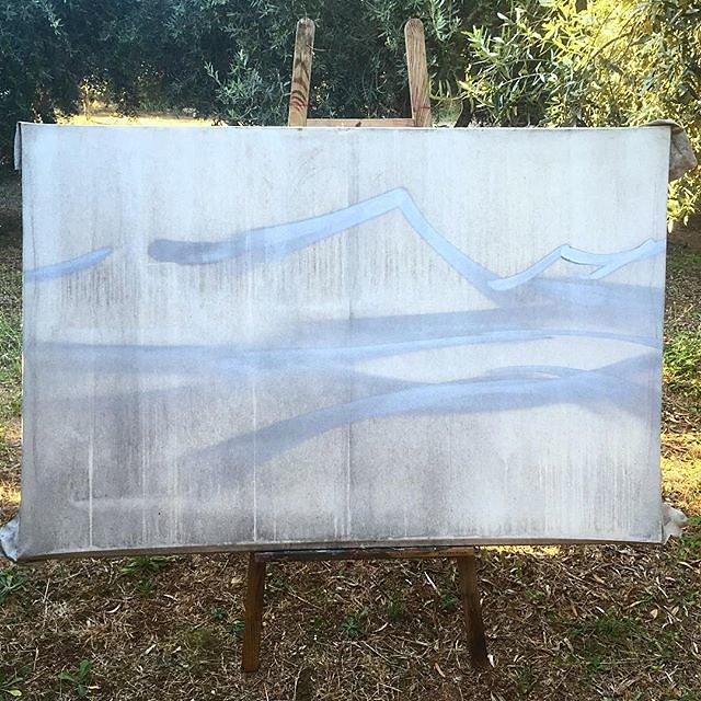 #painting #graffiti #spraypaint #canvas #pleinair #olivegrove